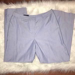 Light chambray cropped pants